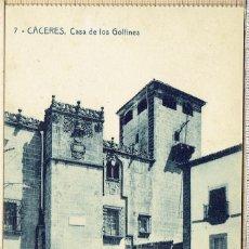 Postales: POSTAL CACERES CASA DE LOS GOLFINES - 1927.. Lote 146141878