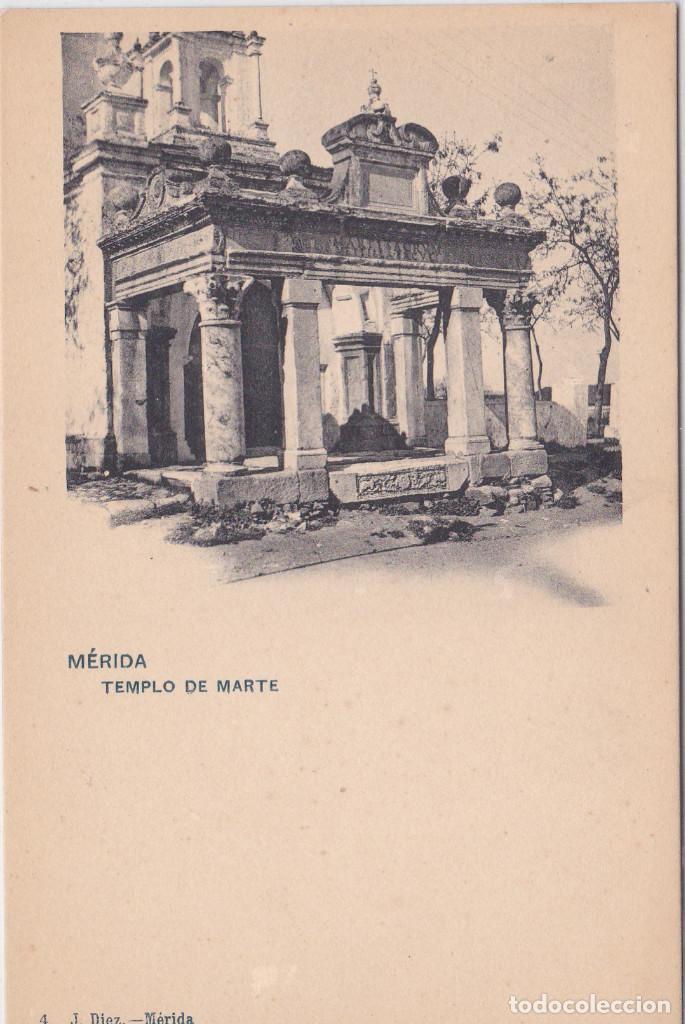 TEMPLO DE MARTE - MERIDA (BADAJOZ) - J. DÍEZ (Postales - España - Extremadura Antigua (hasta 1939))