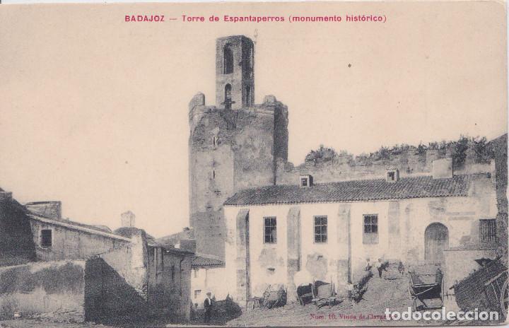 BADAJOZ - TORRE DE ESPANTAPERROS (MONUMENTO HISTORICO) (Postales - España - Extremadura Antigua (hasta 1939))