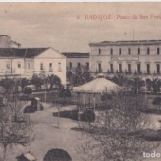 Postales: BADAJOZ - PASEO DE SAN FRANCISCO. Lote 146964938