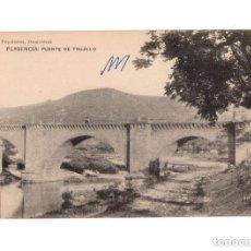Postales: PLASENCIA.(CÁCERES).- PUENTE DE TRUJILLO. PAPELERÍA HONTIVEROS. Lote 147063526
