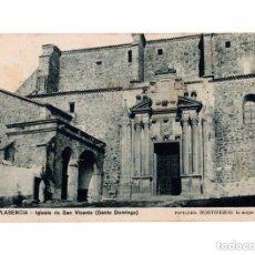 Postales: PLASENCIA.(CÁCERES).- IGLESIA SAN VICENTE (SANTO DOMINGO). PAPELERÍA HONTIVEROS. Lote 147064206