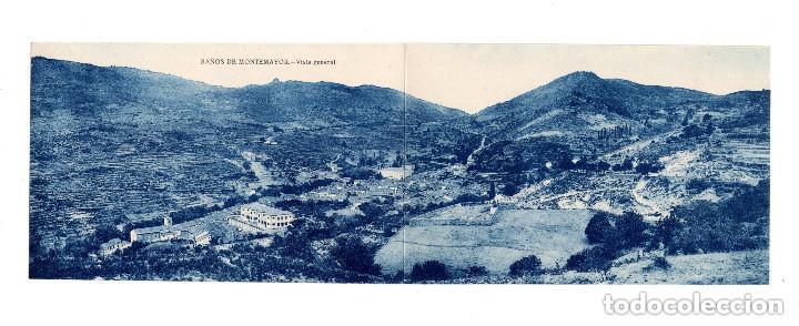 BAÑOS DE MONTEMAYOR.(CÁCERES).- VISTA GENERAL. DOBLE (Postales - España - Extremadura Antigua (hasta 1939))