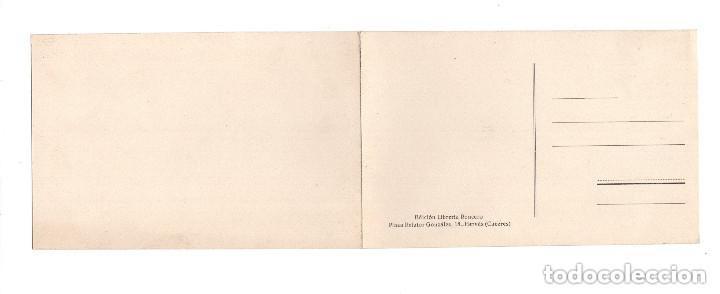 Postales: BAÑOS DE MONTEMAYOR.(CÁCERES).- VISTA GENERAL. DOBLE - Foto 2 - 147065766