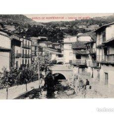 Postales: BAÑOS DE MONTEMAYOR.(CÁCERES).- INTERIOR DEL PUEBLO. Lote 147066538