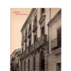 Postales: CÁCERES.- BANCO DE ESPAÑA. Lote 147068094