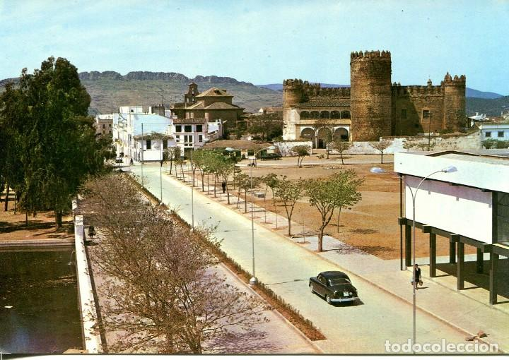 BADAJOZ--ZAFRA-PLAZA ALCAZAR Y CASTILLO- AÑO 1965- ARRIBAS (Postales - España - Extremadura Moderna (desde 1940))