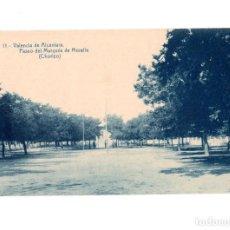 Postales: VALENCIA DE ALCÁNTARA.(CÁCERES).- PASEO DEL MARQUES DE MORELLA ( CHORIZO). Lote 147342550