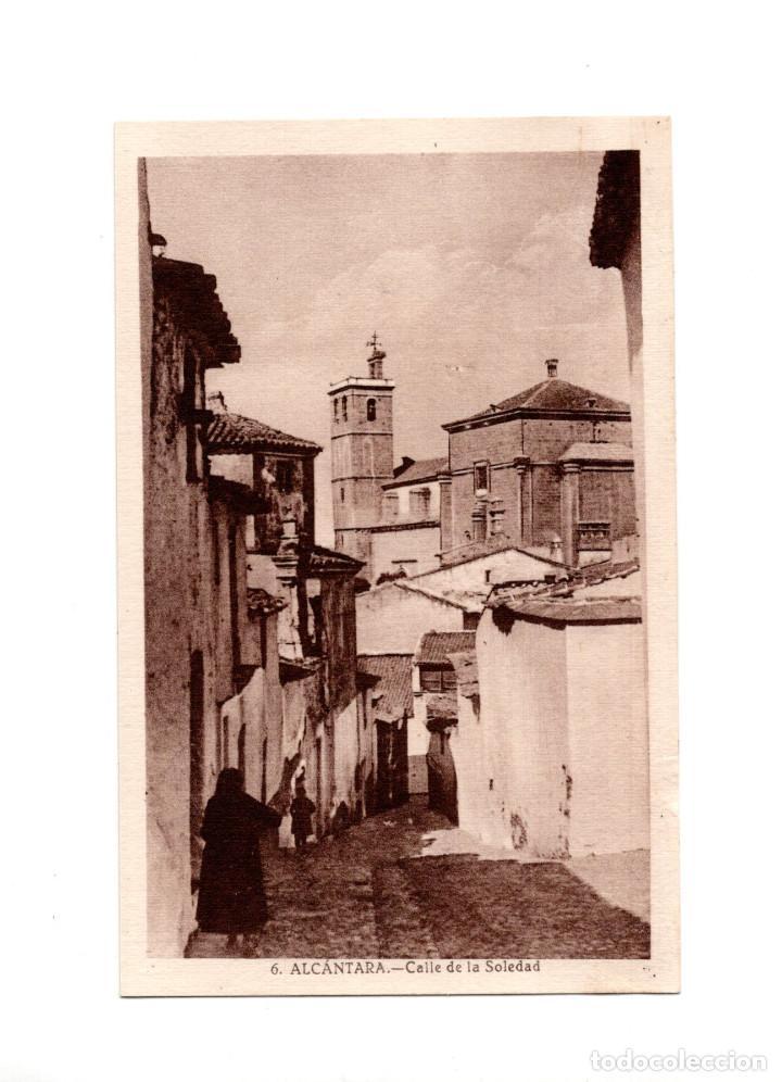 ALCÁNTARA.(CÁCERES).- CALLE DE LA SOLEDAD (Postales - España - Extremadura Antigua (hasta 1939))