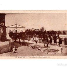Postales: ALCÁNTARA.(CÁCERES).- PLAZA DE ESPAÑA Y CASA CONSISTORIAL. Lote 147347174