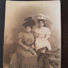 Postais: BADAJOZ MADRE E HIJA RETRATO POSTAL FOTOGRAFICA HACIA 1908 FERNANDO GARRORENA FOTOGRAFO SAN JUAN 14. Lote 147614166