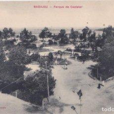 Postales: BADAJOZ - PARQUE DE CASTELAR. Lote 147635674