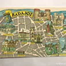 Postales: BADAJOZ. POSTAL PLANO DE LA CIUDAD. EDITA: EDICIONES FRESMO (A.1964). Lote 147736473