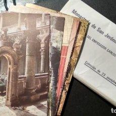 Postales: LOTE 19 POSTALES MONASTERIO SAN JERONIMO DE YUSTE SIN CIRCULAR EN PERFECTO ESTADO. Lote 147940418