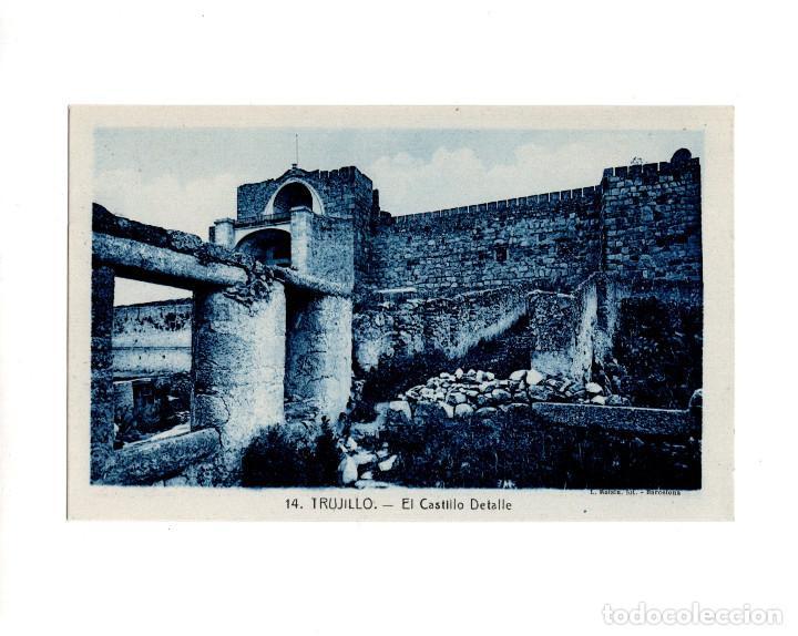TRUJILLO.(CÁCERES).- EL CASTILLO DETALLE (Postales - España - Extremadura Antigua (hasta 1939))