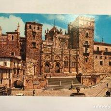 Cartes Postales: GUADALUPE (CÁCERES) POSTAL NO.86, PLAZA Y FACHADA PRINCIPAL DEL MONASTERIO (S. XIV-XV) H.1970?. Lote 149529197