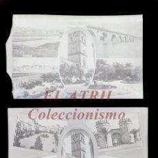 Postales: 2 CLICHES ORIGINALES - BADAJOZ - NEGATIVOS EN CELULOIDE - EDICIONES ARRIBAS. Lote 149803238