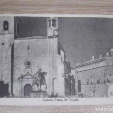 Postales: POSTAL CACERES-PLAZA DE TRUJILLO ED. VICESECRETARIA DE EDUCACION POPULAR-MENSAJE FRANCO. Lote 152639014