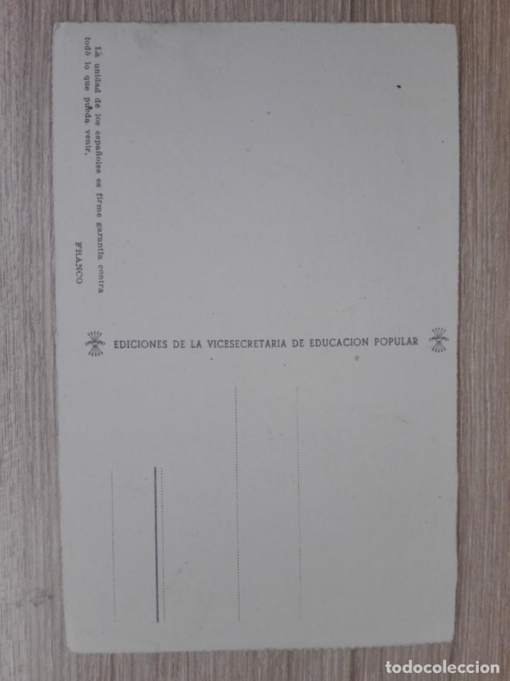 Postales: POSTAL CACERES-PLAZA DE TRUJILLO ED. VICESECRETARIA DE EDUCACION POPULAR-MENSAJE FRANCO - Foto 2 - 152639014