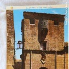 Postales: CACERES. CASA DEL SOL Nº 38 ED PERGAMINO SIN CIRCULAR. Lote 154531562