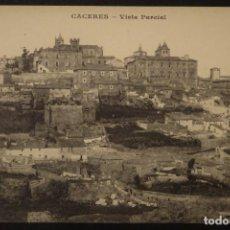 Postales: CACERES, VISTA PARCIAL, POSTAL SIN CIRCULAR ORIGINAL DE PRINCIPIOS DEL SIGLO PASADO. Lote 154852594