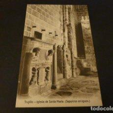 Postales: TRUJILLO CACERES IGLESIA DE SANTA MARIA SEPULCROS ANTIGUOS FOTO A. DIEGUEZ. Lote 155472722