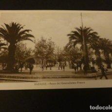 Postales: BADAJOZ PASEO DEL GENERALISIMO FRANCO. Lote 155473454
