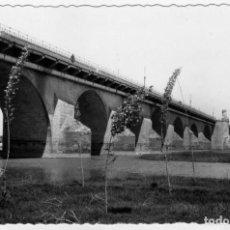 Postales: BONITA POSTAL FOTOGRAFICA DE BADAJOZ PUENTE DE PALMAS AÑOS 1950. Lote 159800334