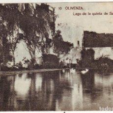 Postales: PB-240 OLIVENZA LAGO DE LA QUINTA DE SAN JUAN. Lote 160659514