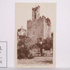 Postales: ANTIGUA POSTAL - 4. CÁCERES. TORRE DE ABU-JACOB, BUJACO. SIGLO XII - SIN CIRCULAR - YUGO Y FLECHAS. Lote 163738982