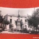 Postales: BADAJOZ FOTOGRAFICA VILLANUEVA DE LA SERENA PLAZA CANALEJAS Y MONUMENTO AL SAGRADO CORAZON DE JESUS. Lote 164601314