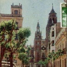 Postales: BADAJOZ-PLAZA DE LA SOLEDAD- 1959. Lote 164735918