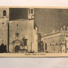 Postales: CÁCERES. POSTAL PLAZA DE TRUJILLO. EDITA: EDICIONES DE LA VICESECRETARIA EDUCACIÓN POPULAR (H.1940?). Lote 166645157