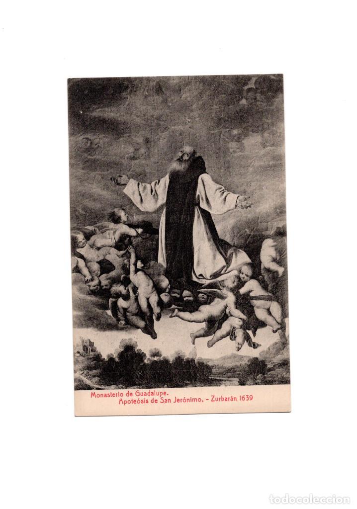 MONASTERIO DE GUADALUPE.(CÁCERES).- APOTEÓSIS DE SAN JERÓNIMO.- ZURBARÁN. 1639. (Postales - España - Extremadura Antigua (hasta 1939))