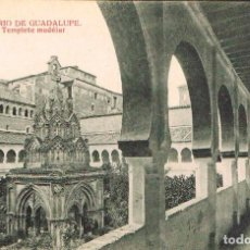 Postales: GUADALUPE (CÁCERES).MONASTERIO, CLAUSTRO Y TEMPLETE MUDEJAR, EDITOR: THOMAS, EDICION ALMIRALL Nº 556. Lote 166996368