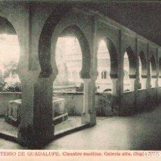 Postales: GUADALUPE (CÁCERES). MONASTERIO, CLAUSTRO MUDEJAR, GALERIA ALTA, EDITOR: THOMAS Nº 555. Lote 166997028