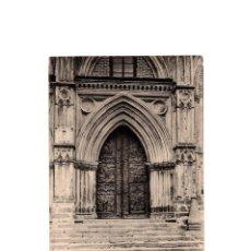 Postales: MONASTERIO DE GUADALUPE.(CÁCERES).- PUERTA DEL TEMPLO EN BRONCE REPUJADO. SIGLO XV.. Lote 167001384