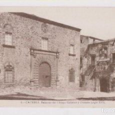 Postales: POSTAL. 6. CÁCERES. PALACIO DEL OBISPO GALARZA Y OVANDO (SIGLO XVI). Lote 169729360