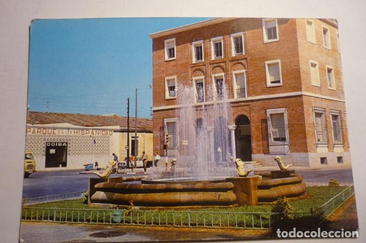 POSTAL BADAJOZ - FUENTE LUMINOSA-CIRCULADA (Postales - España - Extremadura Moderna (desde 1940))