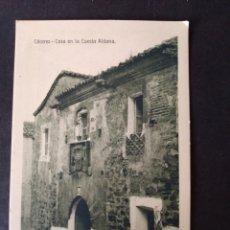 Postales: CACERES CASA EN LA CUESTA ALDANA ED. EULOGIO BLASCO. Lote 171745275