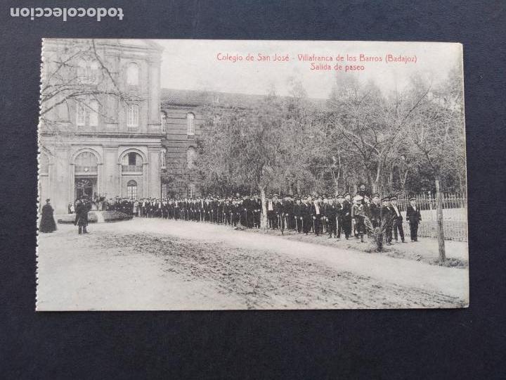 VILLAFRANCA DE LOS BARROS BADAJOZ COLEGIO DE SAN JOSE SALIDA DE PASEO FOTO L. SAUS VANDERMAN MADRID (Postales - España - Extremadura Antigua (hasta 1939))