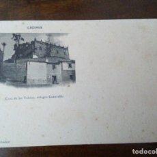 Postales: CÁCERES. CASA DE LAS VELETAS, ANTIGUO GENERALIFE. FOTO ECHALUCE. PAPELERÍA ALCOYANA, CÁCERES.. Lote 172884353
