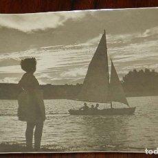 Postales: FOTOGRAFIA DE BADAJOZ. ATARDECER EN EL RIO GUADINA, FOTO PESINI, MIDE 17,5 X 11,5 CMS.. Lote 173040420