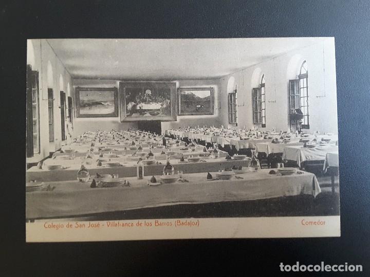 POSTAL VILLAFRANCA DE LOS BARROS - COLEGIO SAN JOSÉ (Postales - España - Extremadura Antigua (hasta 1939))