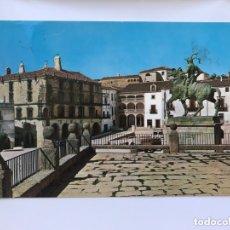 Cartes Postales: TRUJILLO (CÁCERES) POSTAL NO.3, PLAZA MAYOR. ESTATUA DE PIZARRO Y PALACIO DEL MARQUÉS DE LA CONQUIST. Lote 173946225