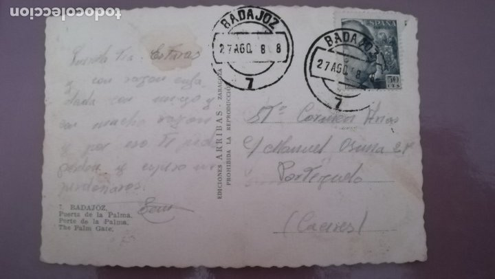 Postales: POSTAL BADAJOZ, PUERTA DE PALMA - Foto 2 - 174432848