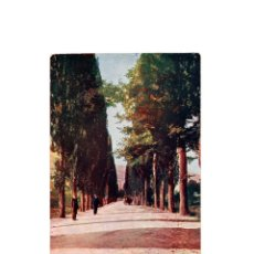 Postales: BAÑOS DE MONTEMAYOR.(CÁCERES).- VISTA DEL PASEO DE LA GLORIETA. ALREDEDORES DEL PUEBLO. IMP. ALEMAN. Lote 175157860