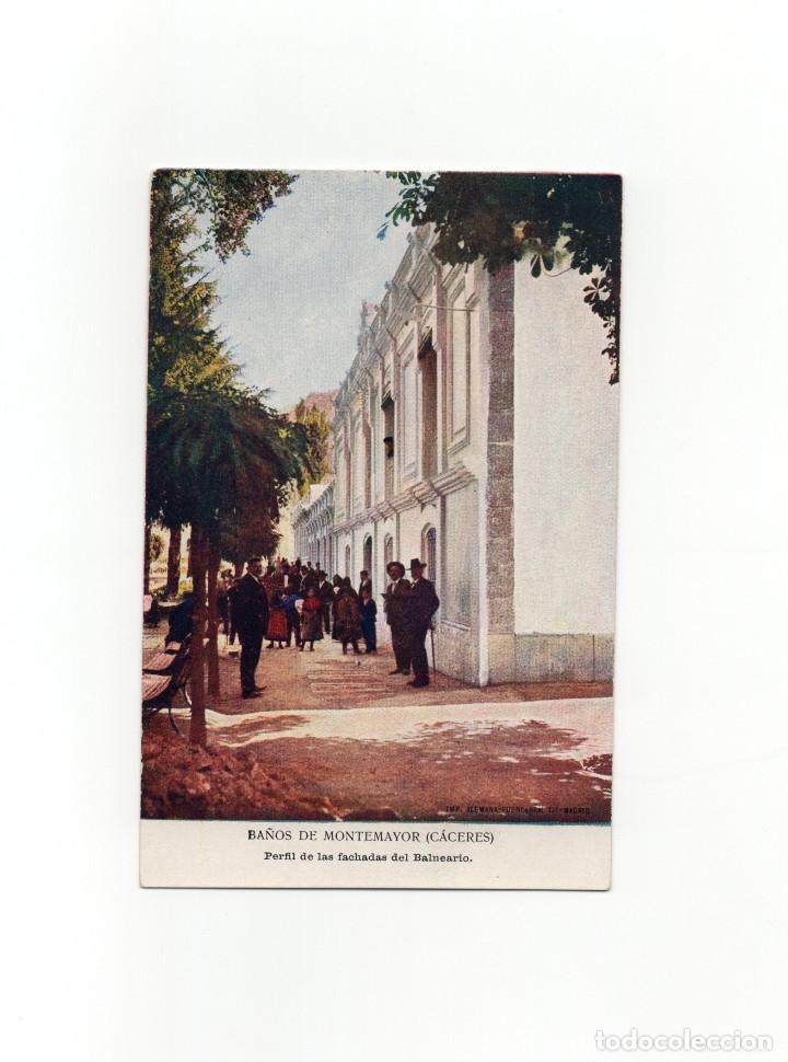 BAÑOS DE MONTEMAYOR.(CÁCERES).- PERFIL DE LAS FACHADAS DEL BALNEARIO - IMP. ALEMAN (Postales - España - Extremadura Antigua (hasta 1939))