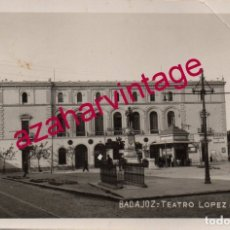Postales: BADAJOZ, FOTOGRAFICA, SIN EDITOR, TEATRO LOPEZ DE AYALA. Lote 175390788