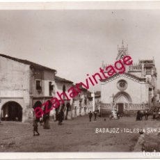 Postales: BADAJOZ.IGLESIA DE SAN JOSÉ. FOTOGRÁFICA. HACIA 1920.. Lote 175390879